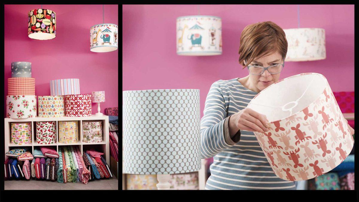 Portraitfotografie-Kunsthandwerk-Lampenschirmmacherind-Atelier