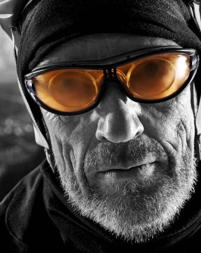 Portraitfotografie-Mann-beschlagene Brille-Winter